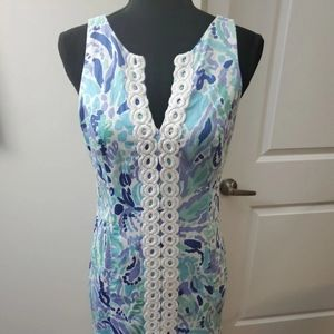 Lilly Pulitzer Shift Embroidered details Dress Sz